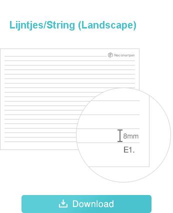Print Ncode PDF landscape lijntjes formaat