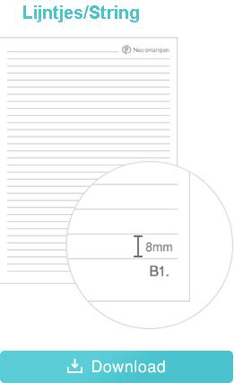 Print Ncode PDF lijntjes formaat